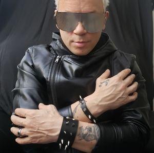 2 piece Gothic Rivet PU Leather Bracelet set